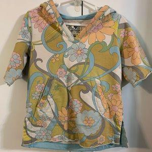 Girls Lucky Brand short sleeve hoodie